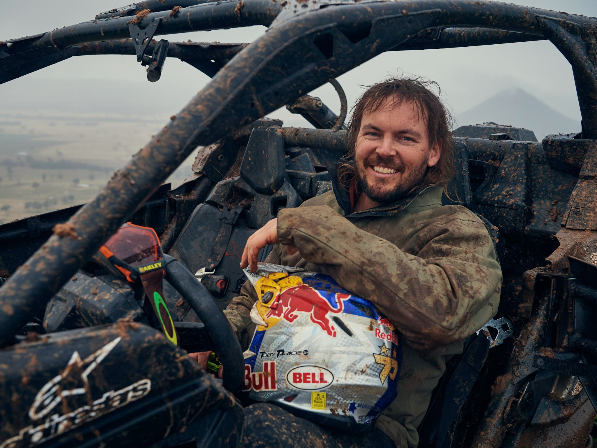 Toby Price sitting in a Can-Am Maverick X3