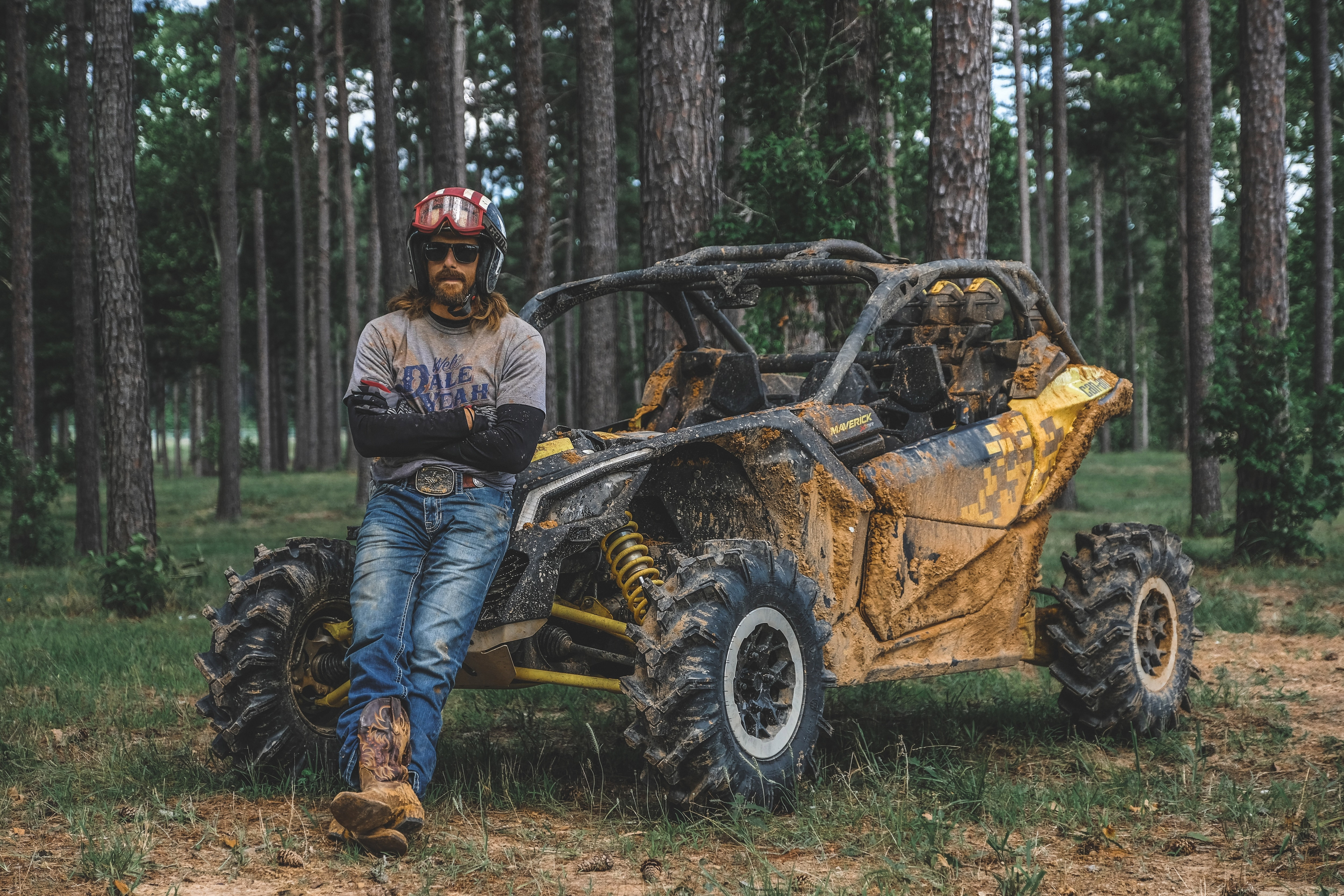 Dale Brisby with his Can-Am Maverick