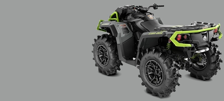 The wider, reengineered Outlander X mr 850 ATV 2020 Can-Am
