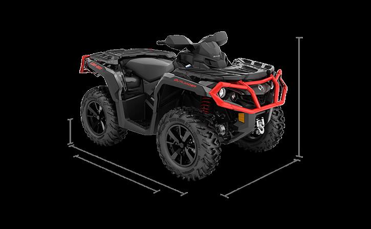 The wider, reengineered Outlander XT ATV 2020 Can-Am Off