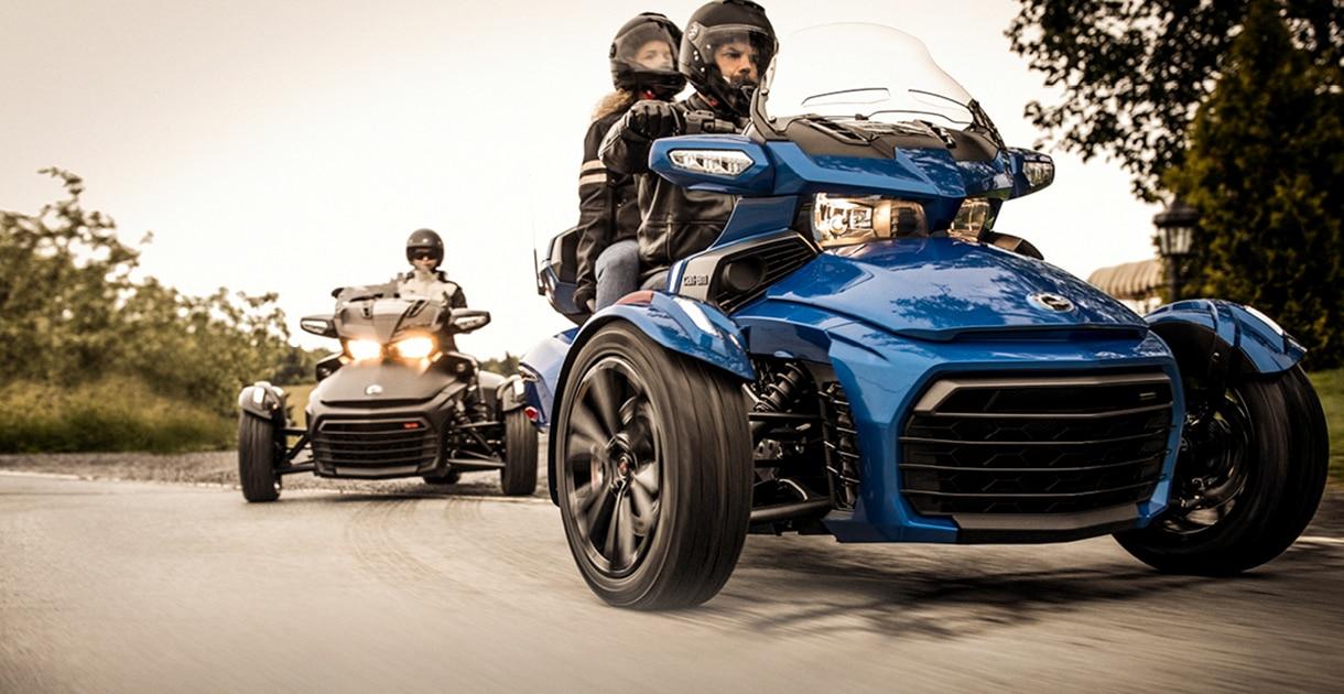 Can Am On Road Spyder Ryker Three Wheel Motorcycles