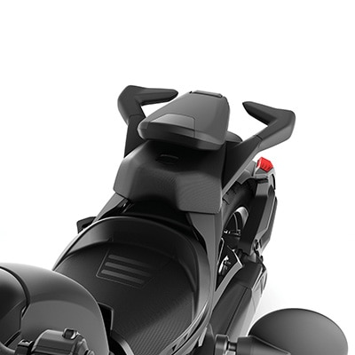 Foldable passenger Backrest Can-Am Ryker