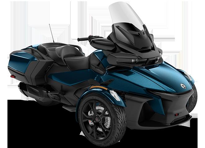 трицикл Spyder RT 2020 у кольорі Petrol Metallic