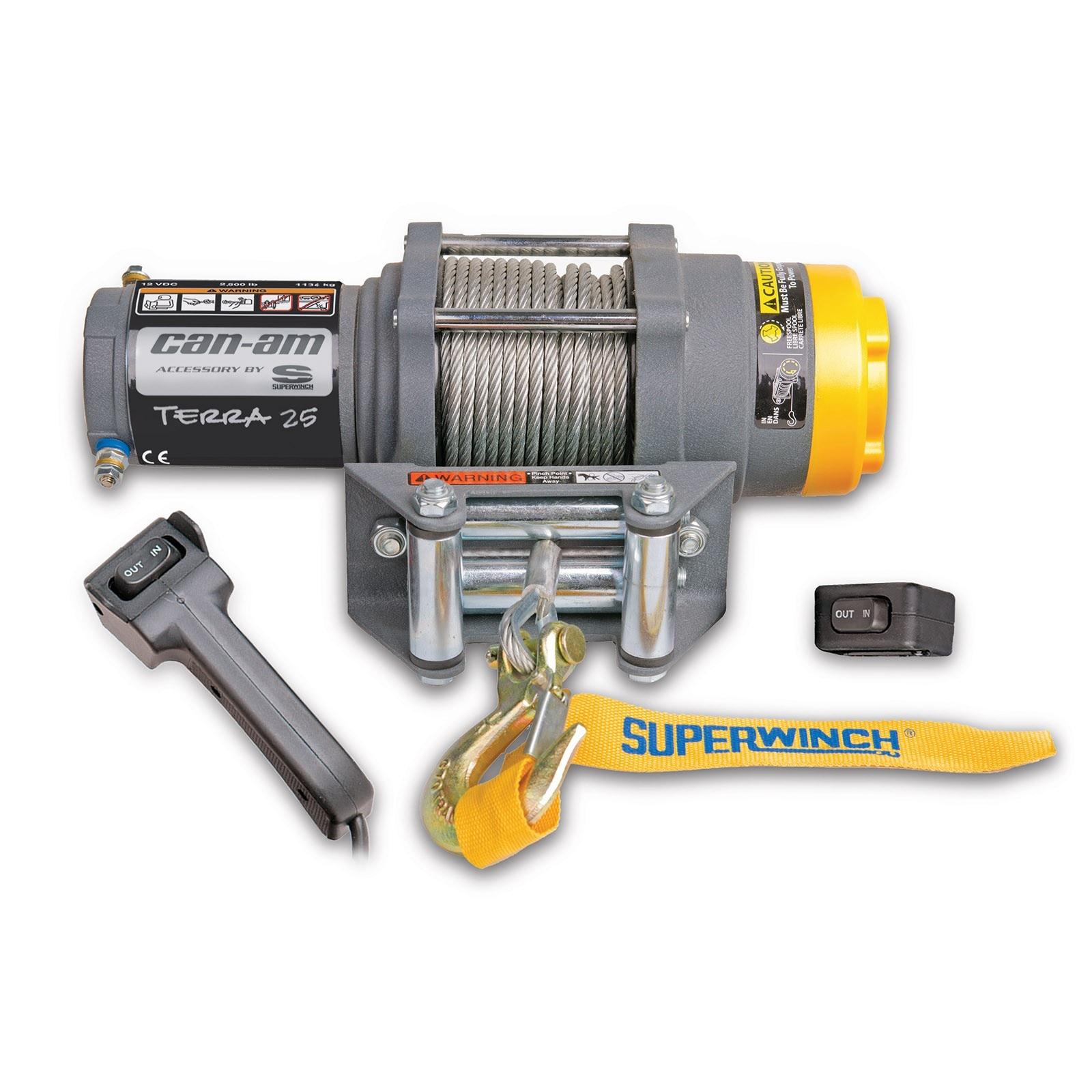 Can Am Terra 25 Winch By Superwinch\u2020 Winches & Hitches Winch Motor Wiring  Superwinch Terra 25 Wiring Diagram