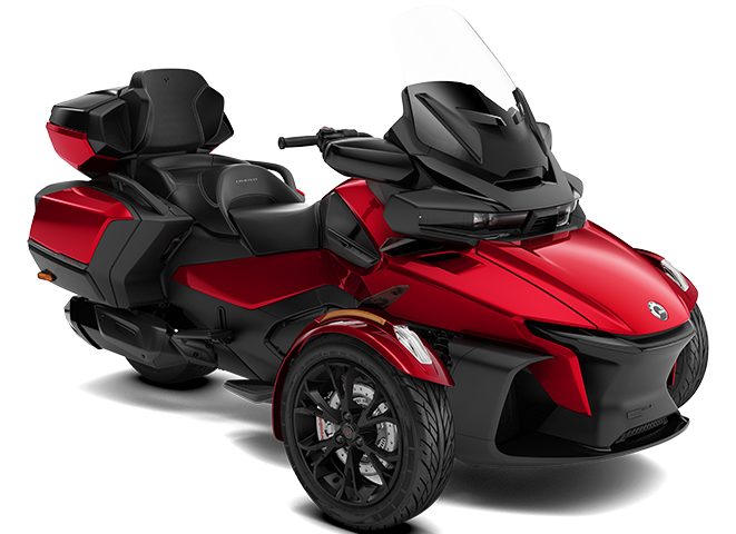 Dark Marsala Red Can-Am Spyder RT Limited 3D model