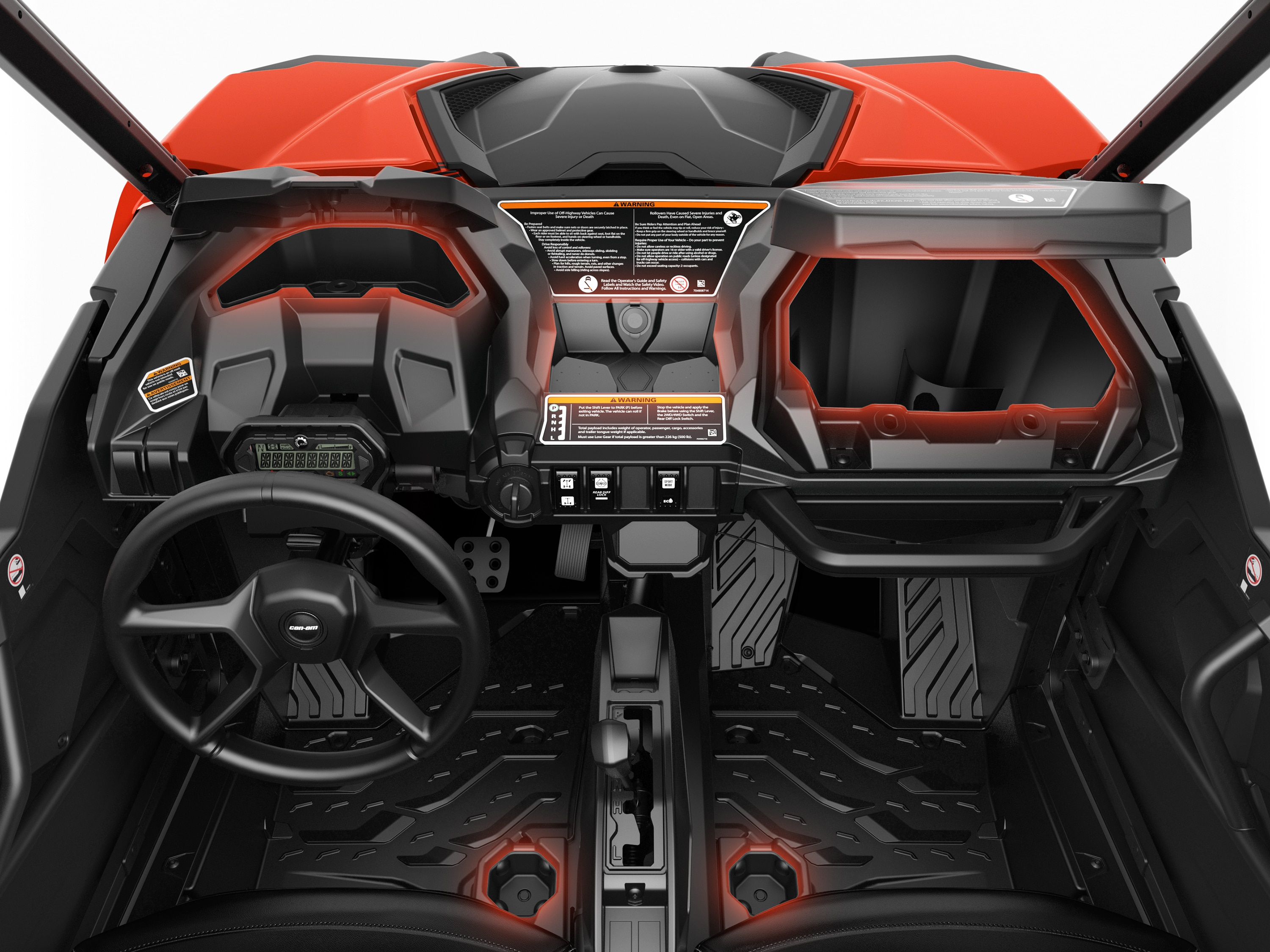 Can-Am Maverick Trail storage and cargo bed design