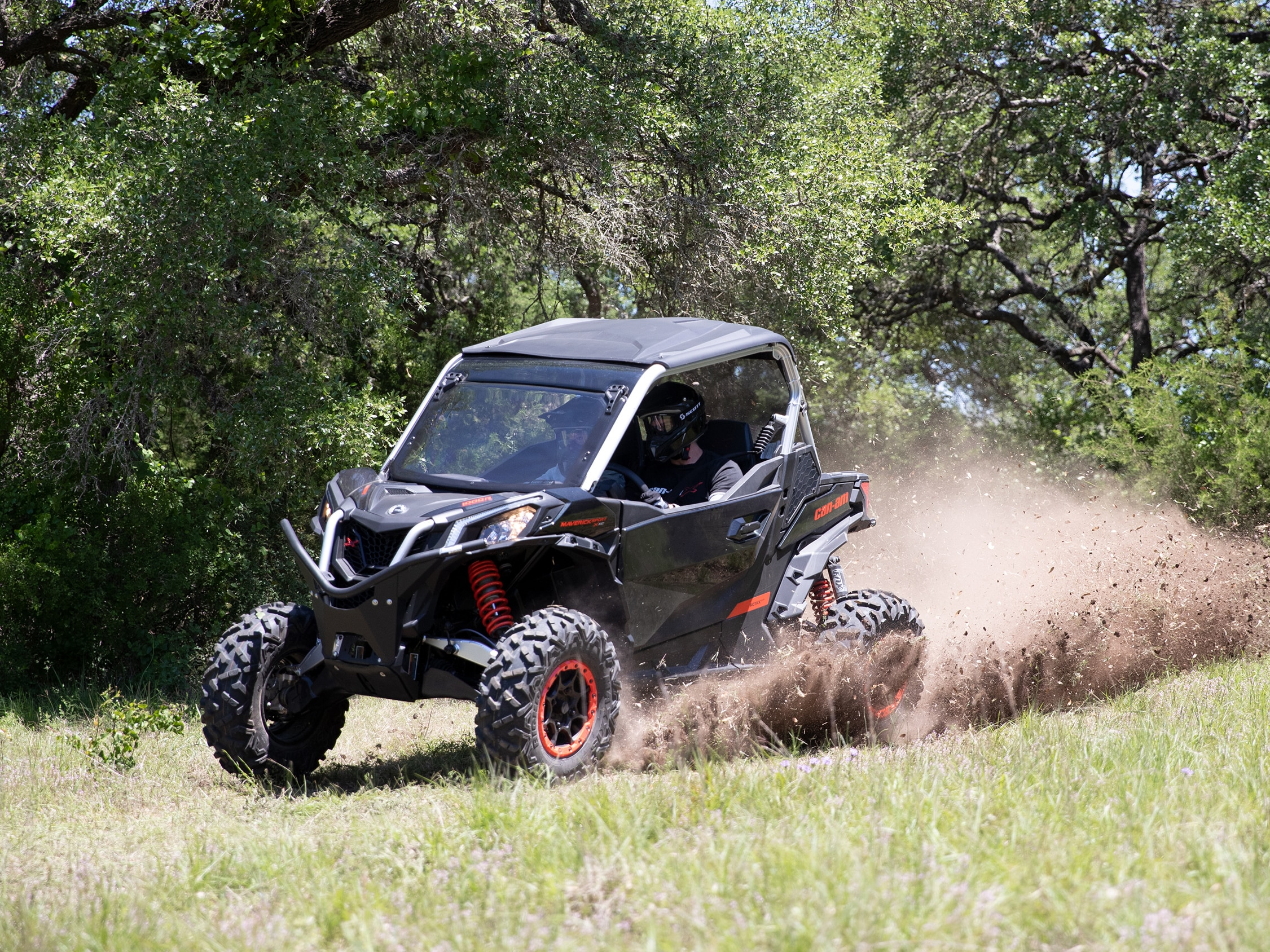 Can-Am Maverick Sport handling and fox shocks