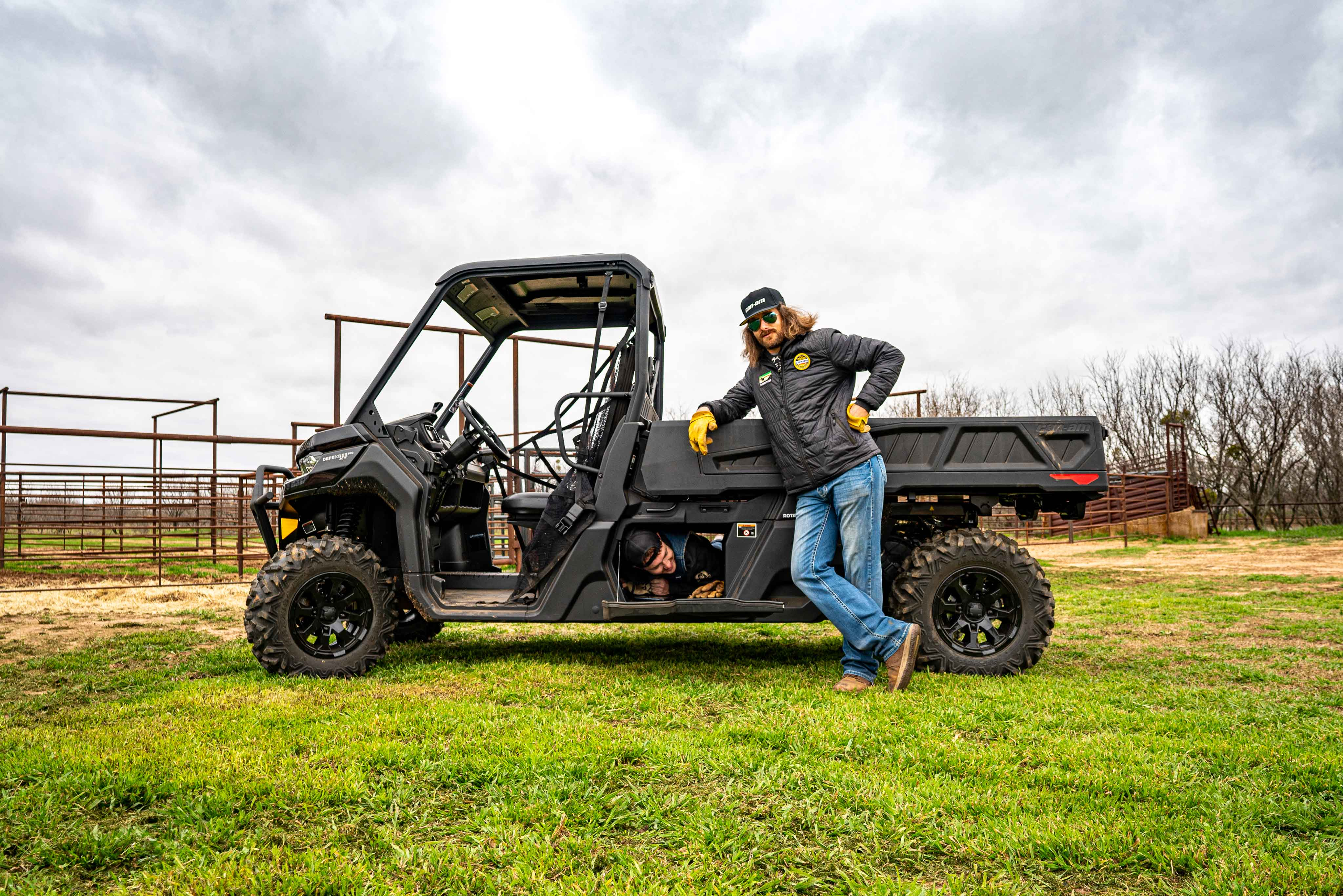 Can-Am Defender side-by-side vehicle ranching storage and under bed