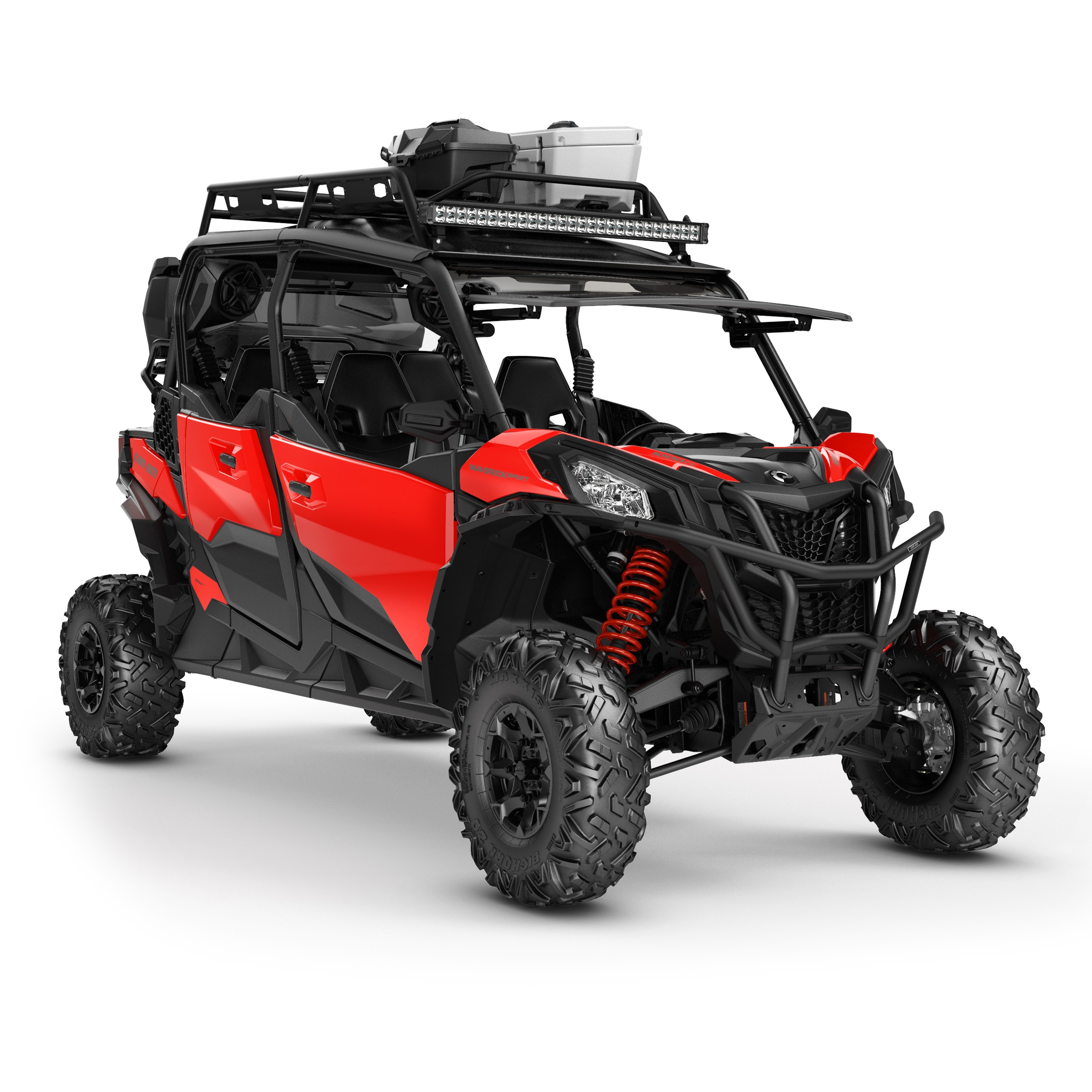 Can-Am Maverick Sport side-by-side accessorized for adventure