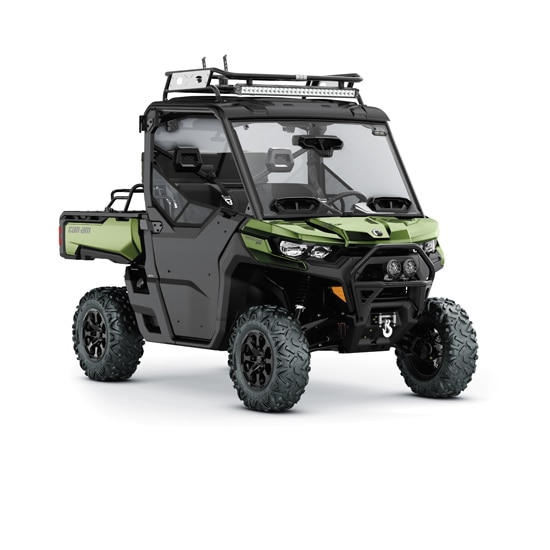 Can-Am Defender side-by-side accessorized for adventure
