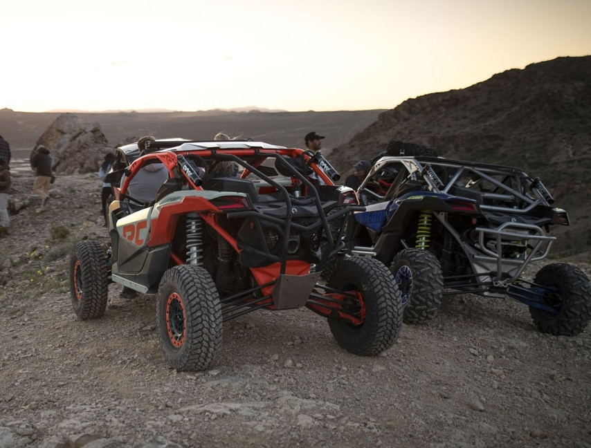 Can-Am Maverick sand mud rocks trail industry leader