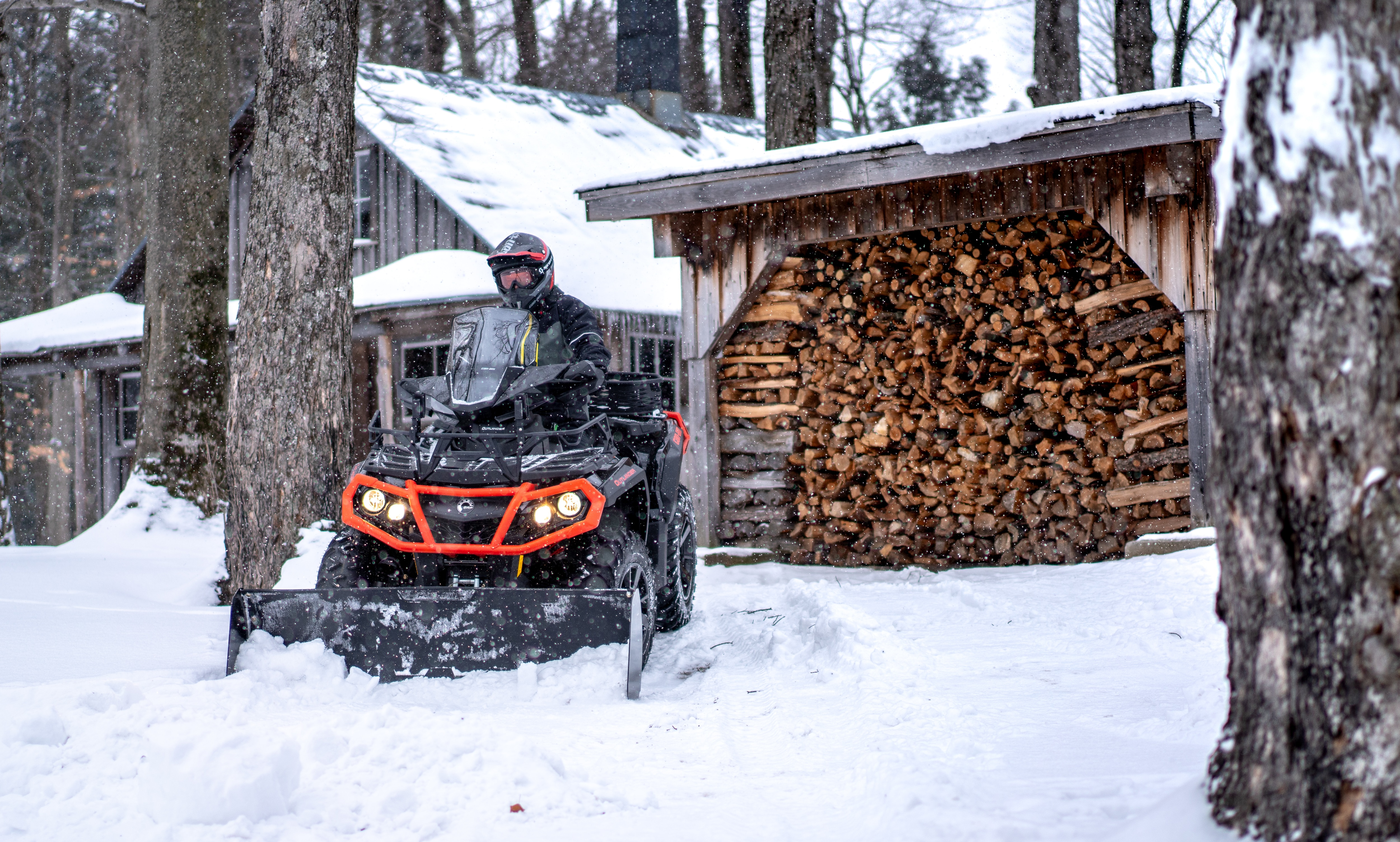 Using your SxS/UTV or ATV for plowing snow and fun in winter