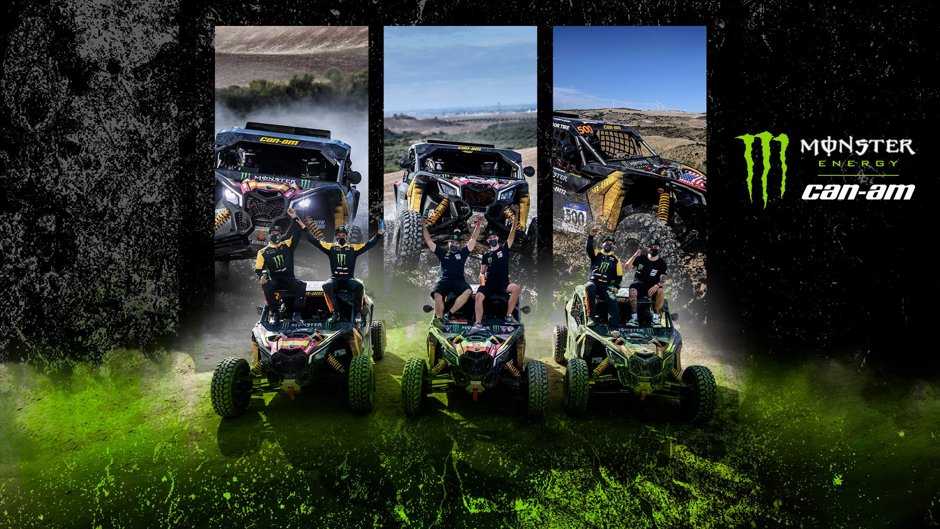Team monster energy can-am en el curso dakar 2021