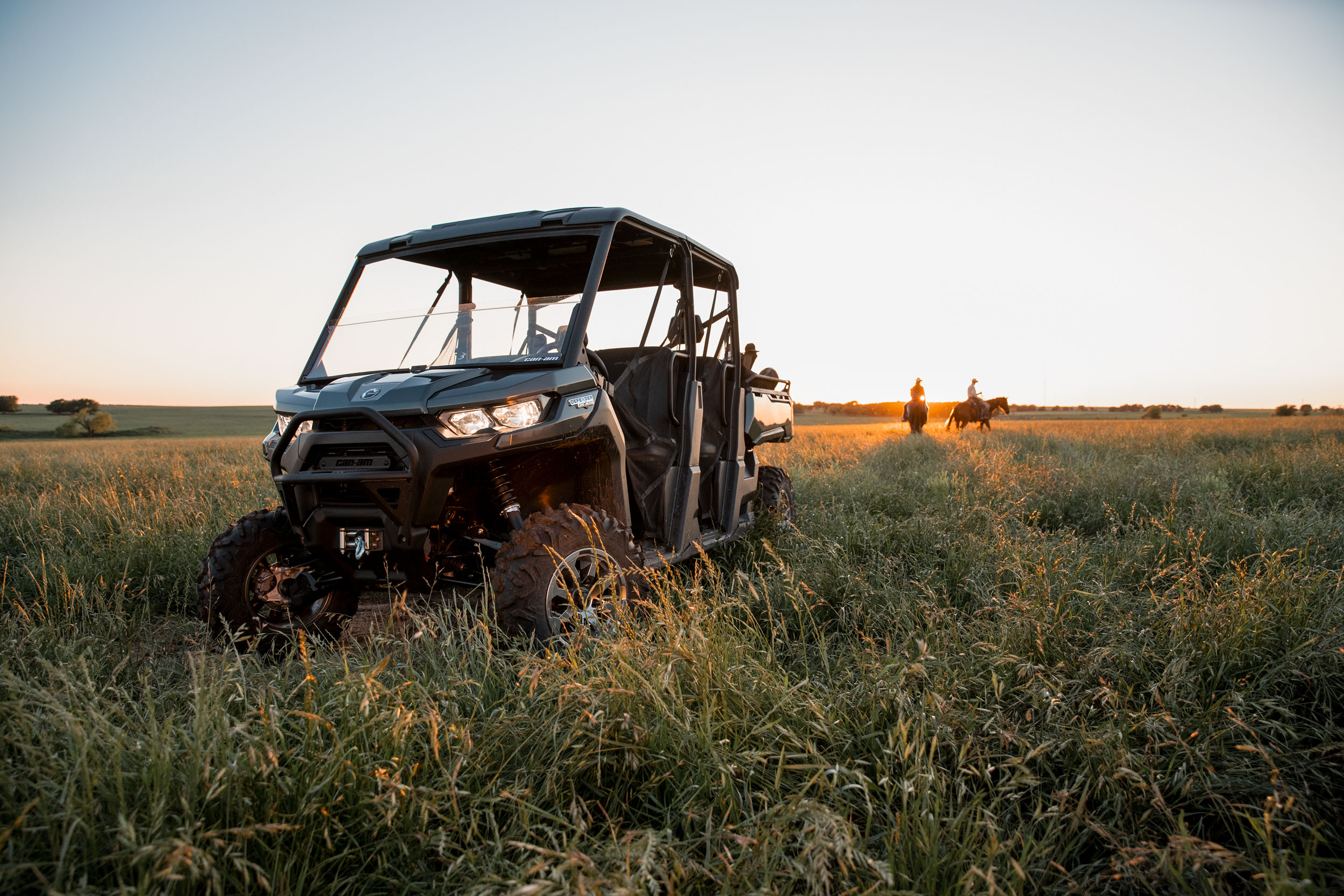 Can-Am Defender MAX side-by-side in a ranch