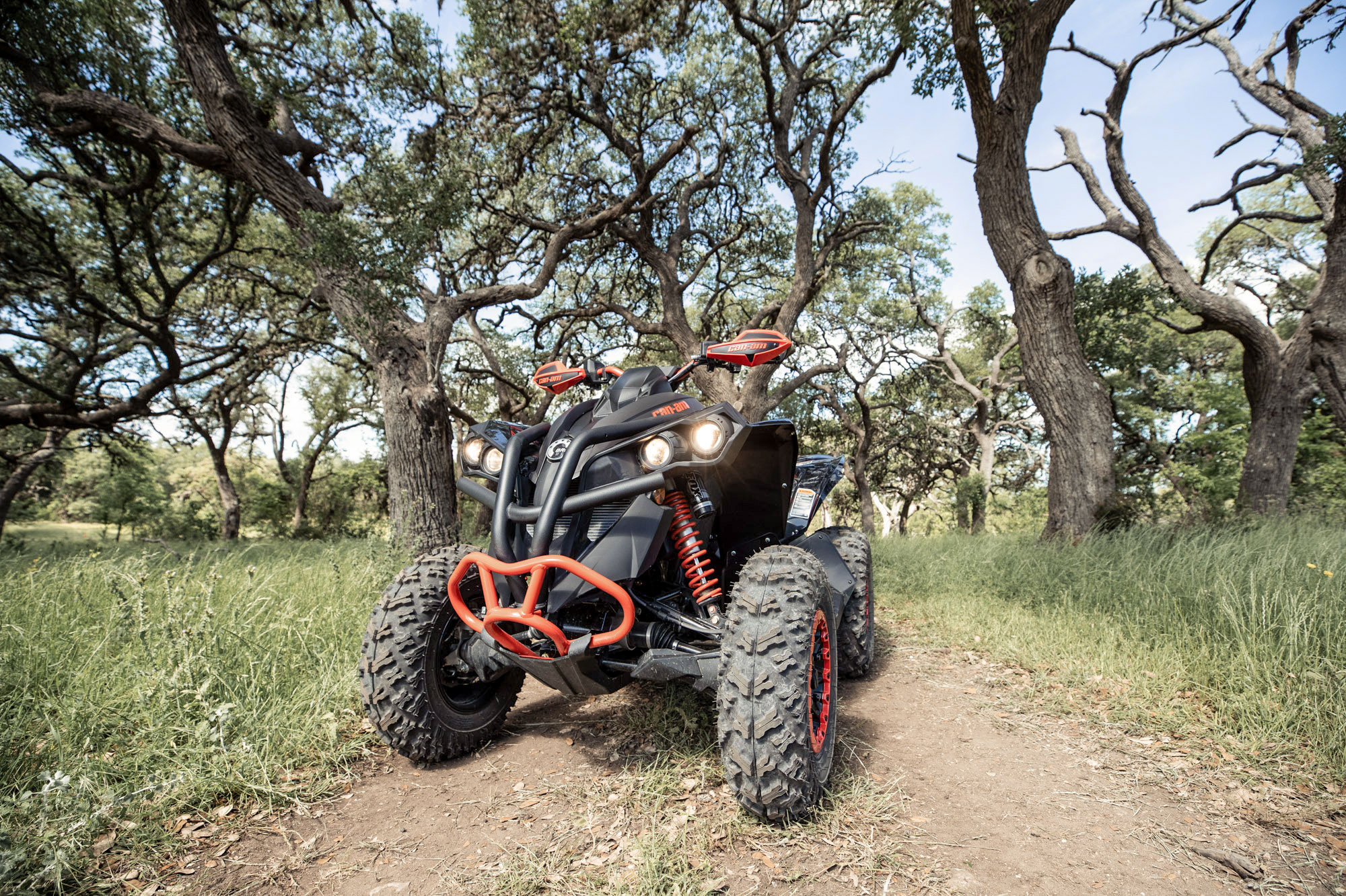 Black & Red Can-Am Renegade X xc ATV