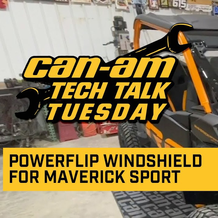 How to install Can-Am PowerFlip Windshield
