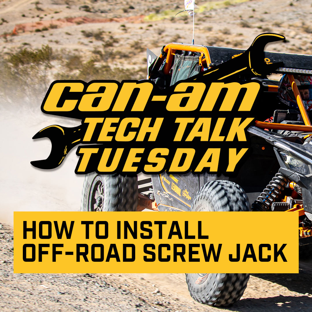 Off-Road Screw Jack instillation for Can-Am Maverick X3