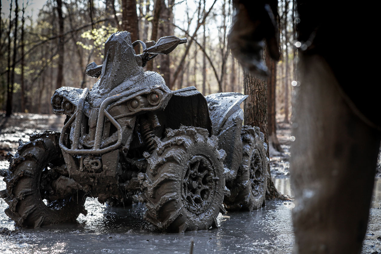 Can-Am Atv mudding and off-roading