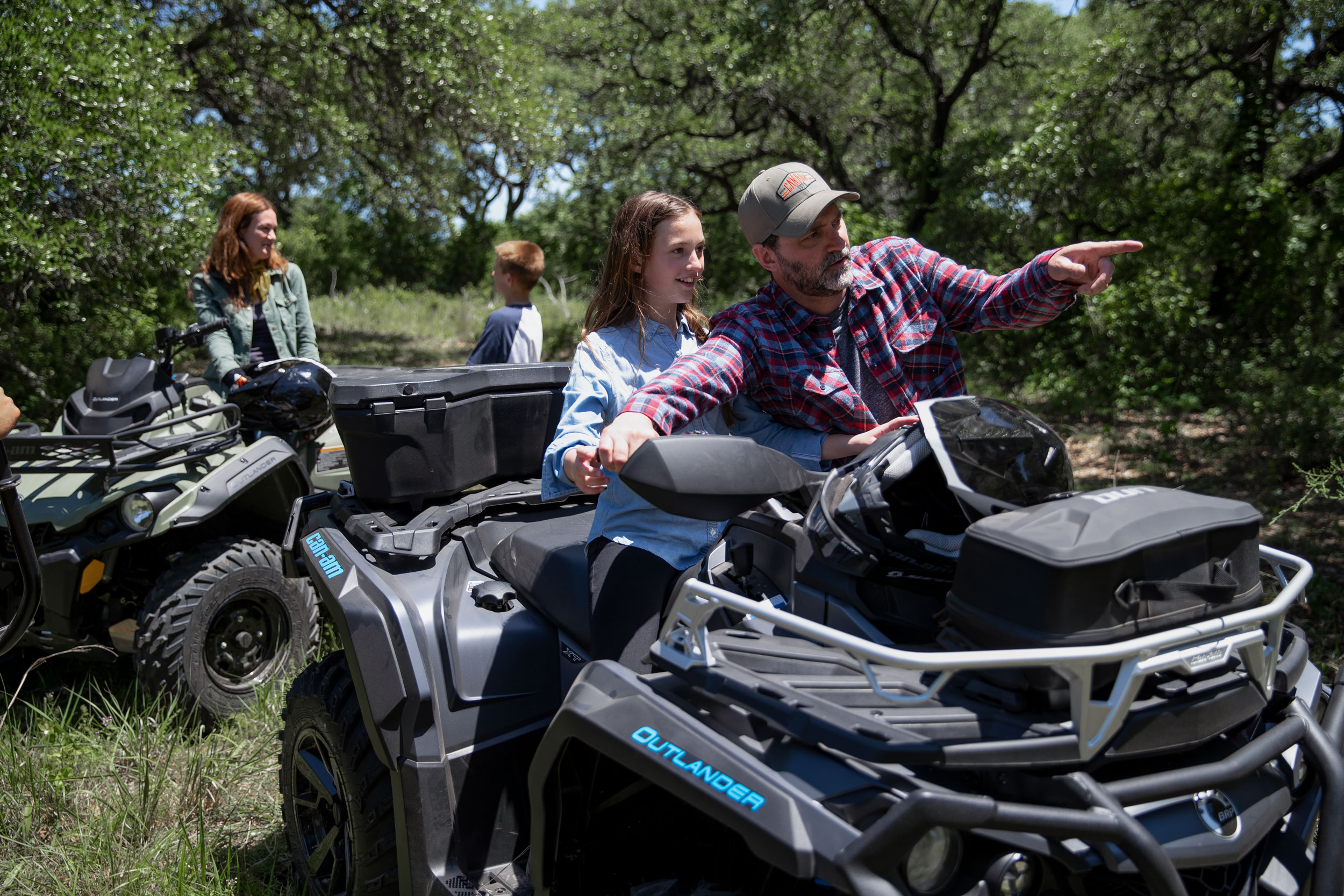 Family ride with Can-Am ATVs