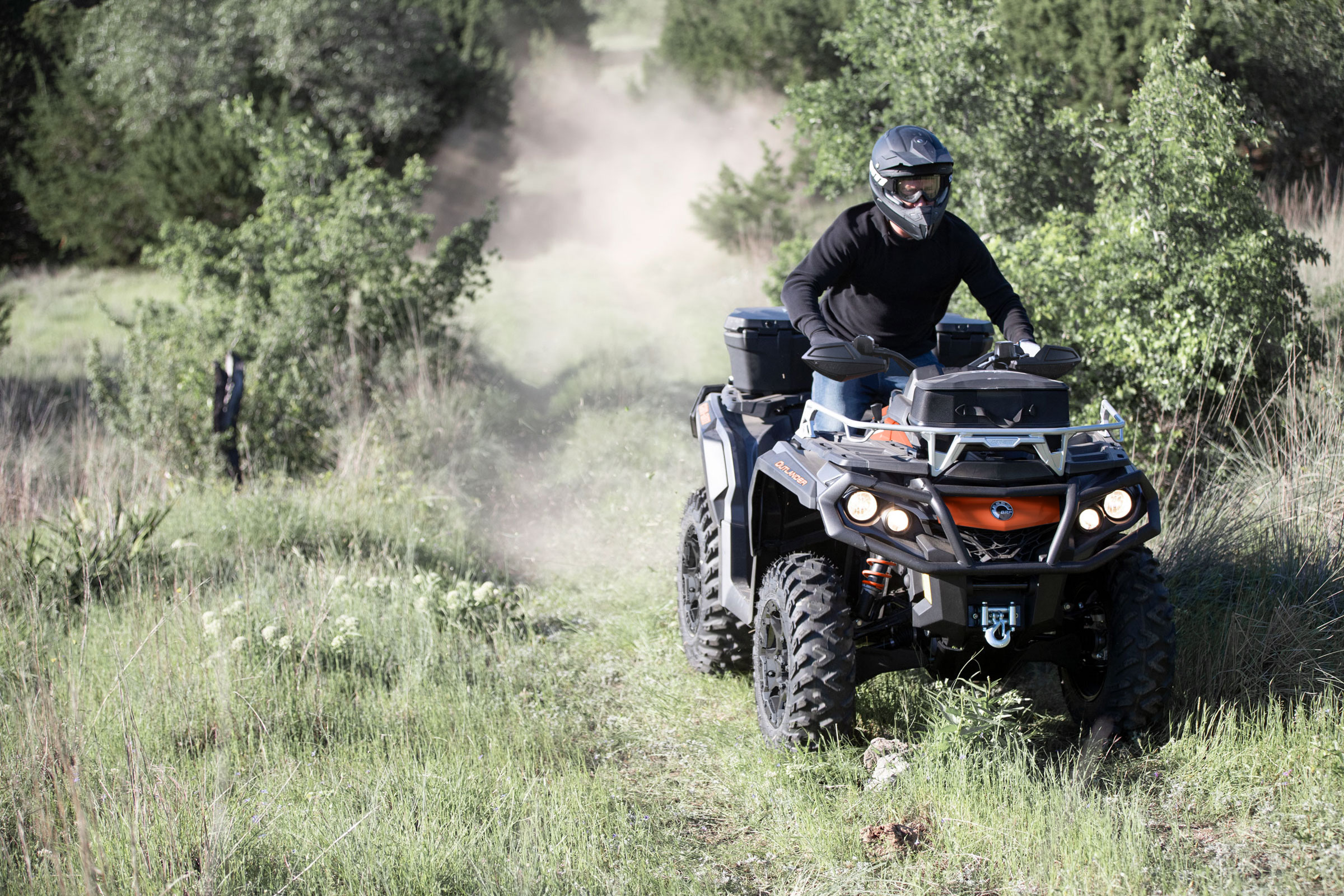 Can-Am ATV trail riding