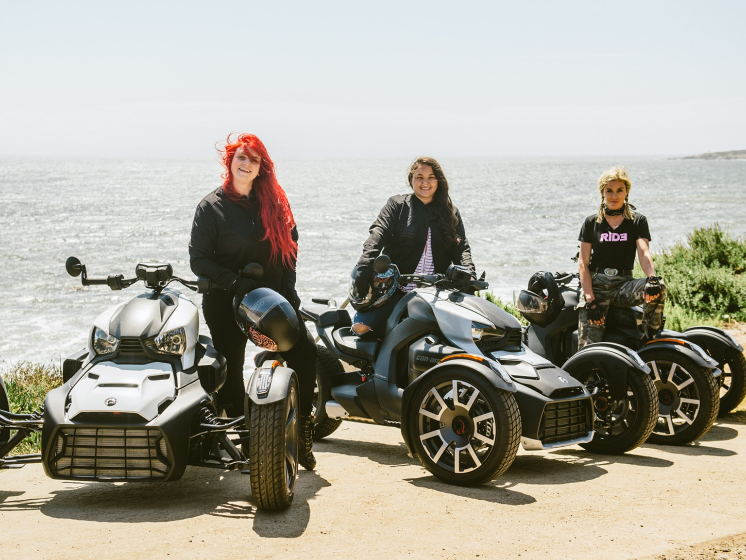 Three ladies on the Can-Am Ryker