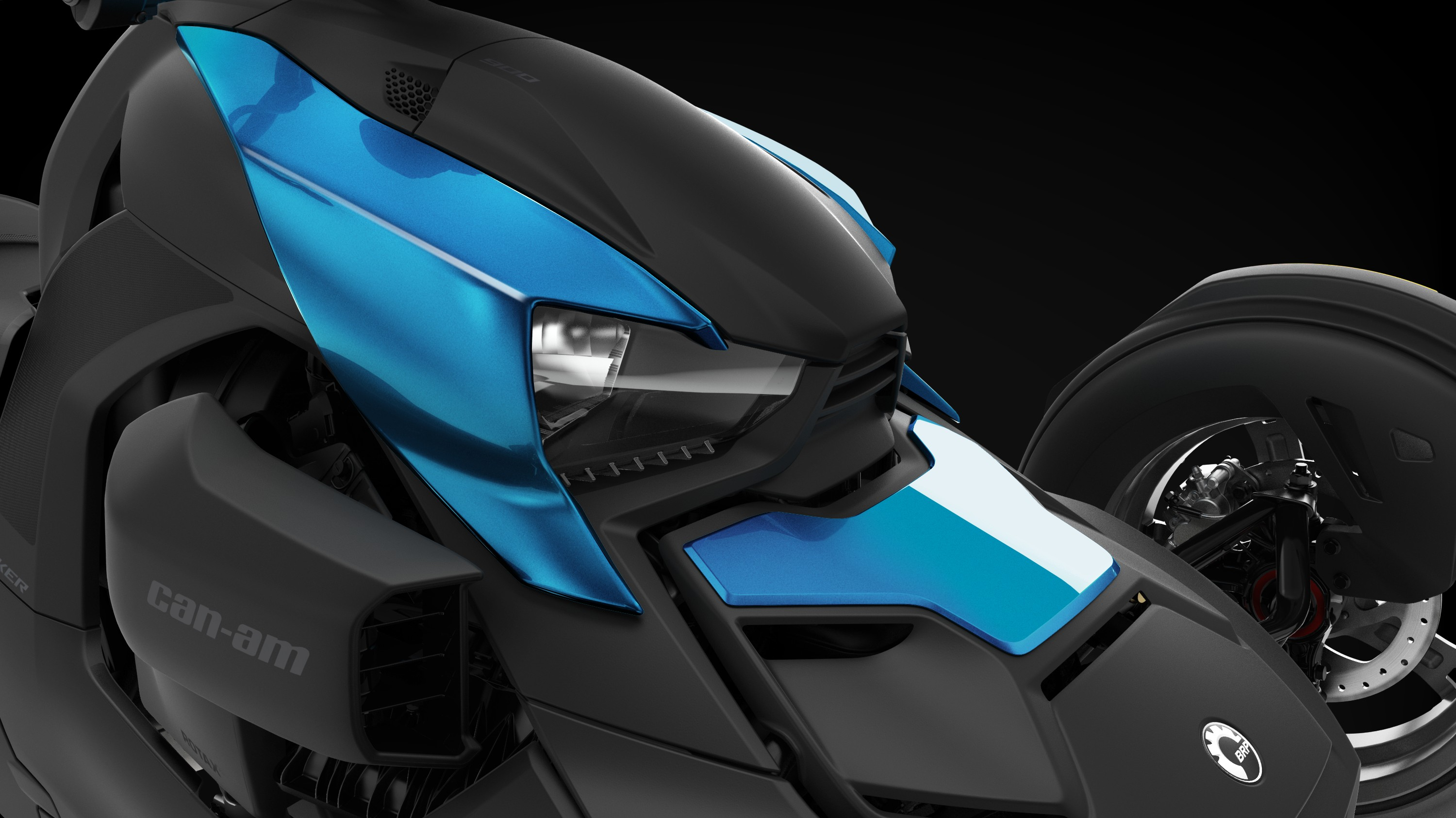 Can-Am Ryker Haze Blue exclusive panels