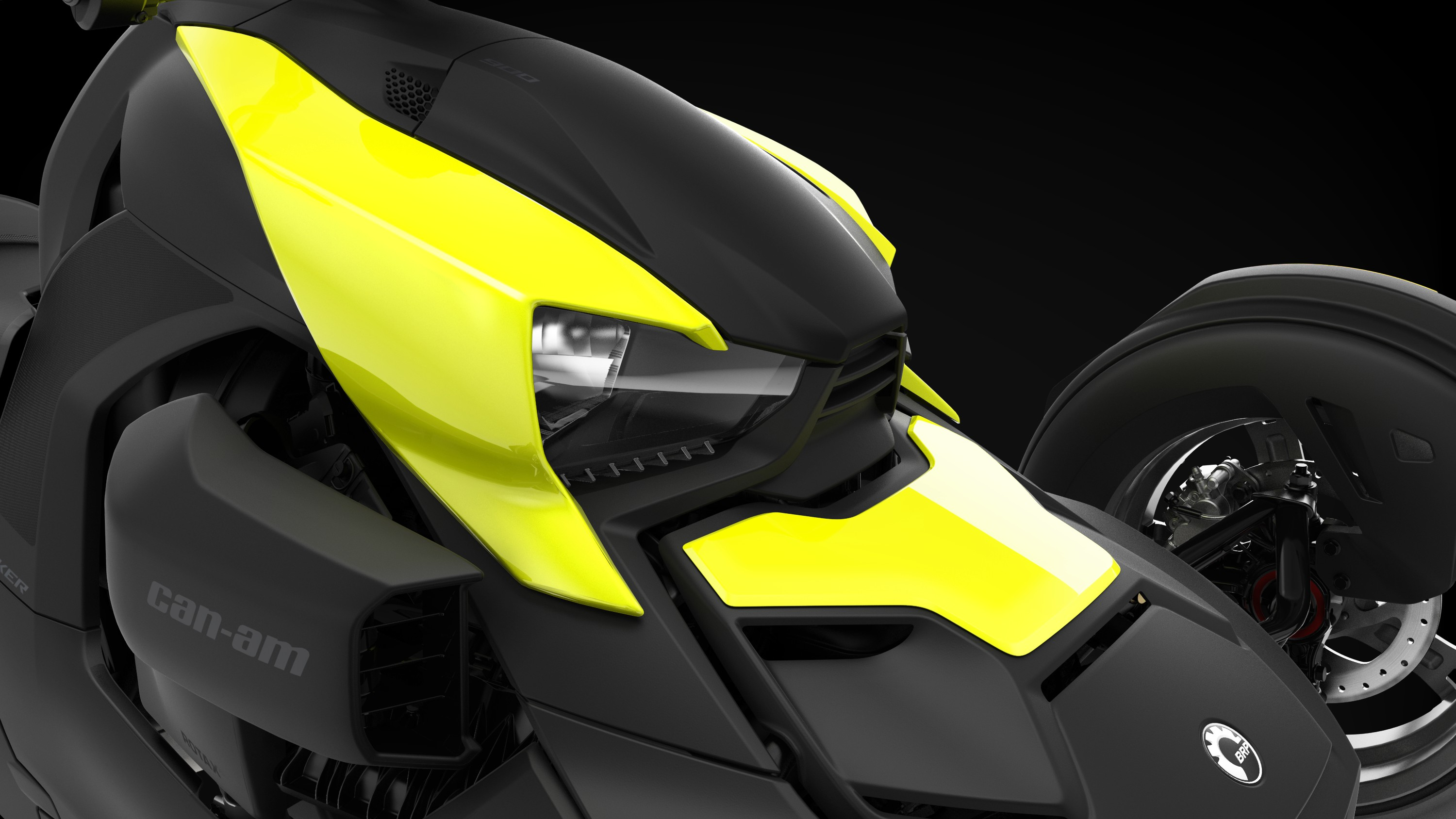 Can-Am Ryker Electric Yellow exclusive panels