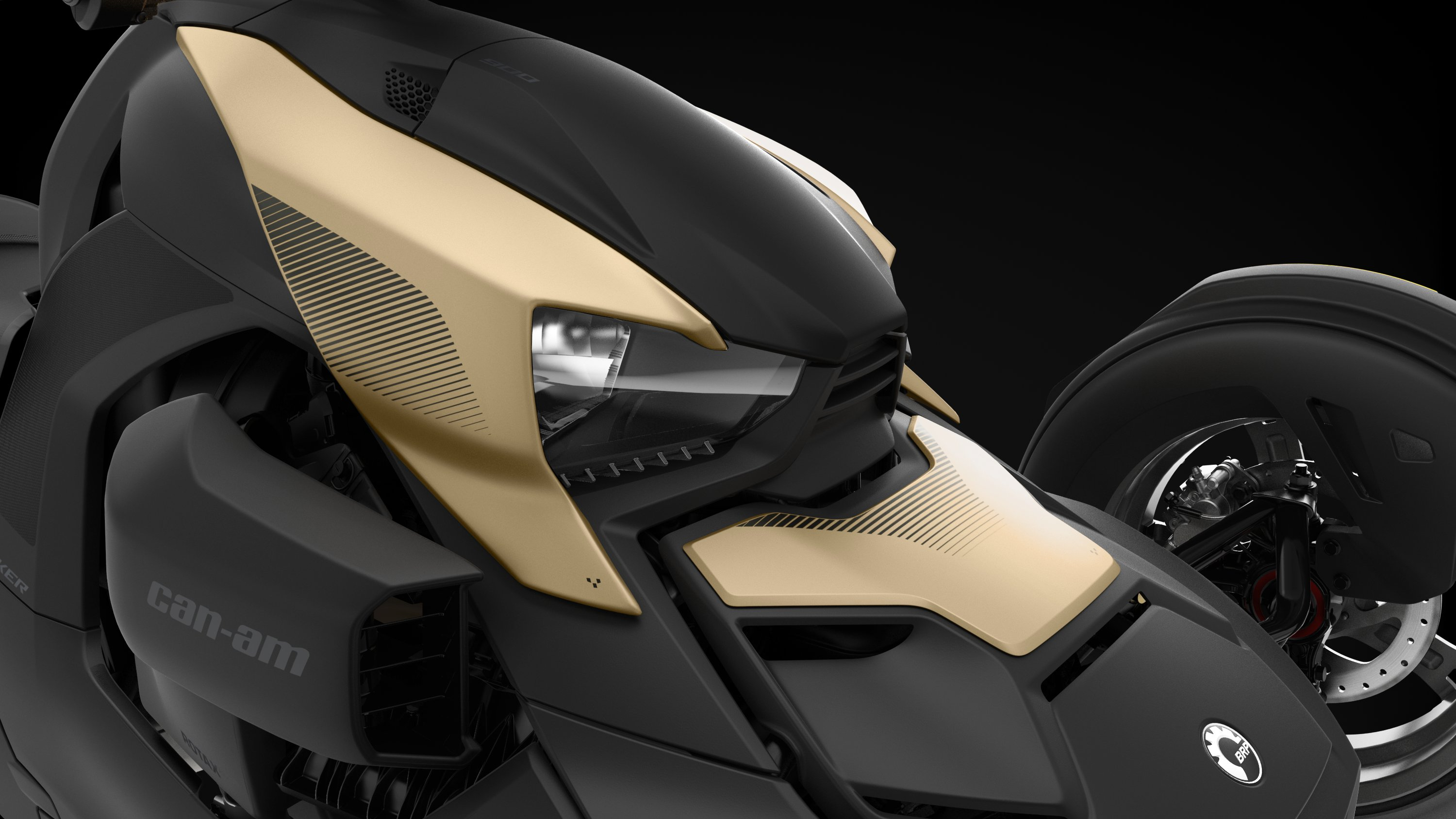 Can-Am Ryker-panel i Liquid Gold