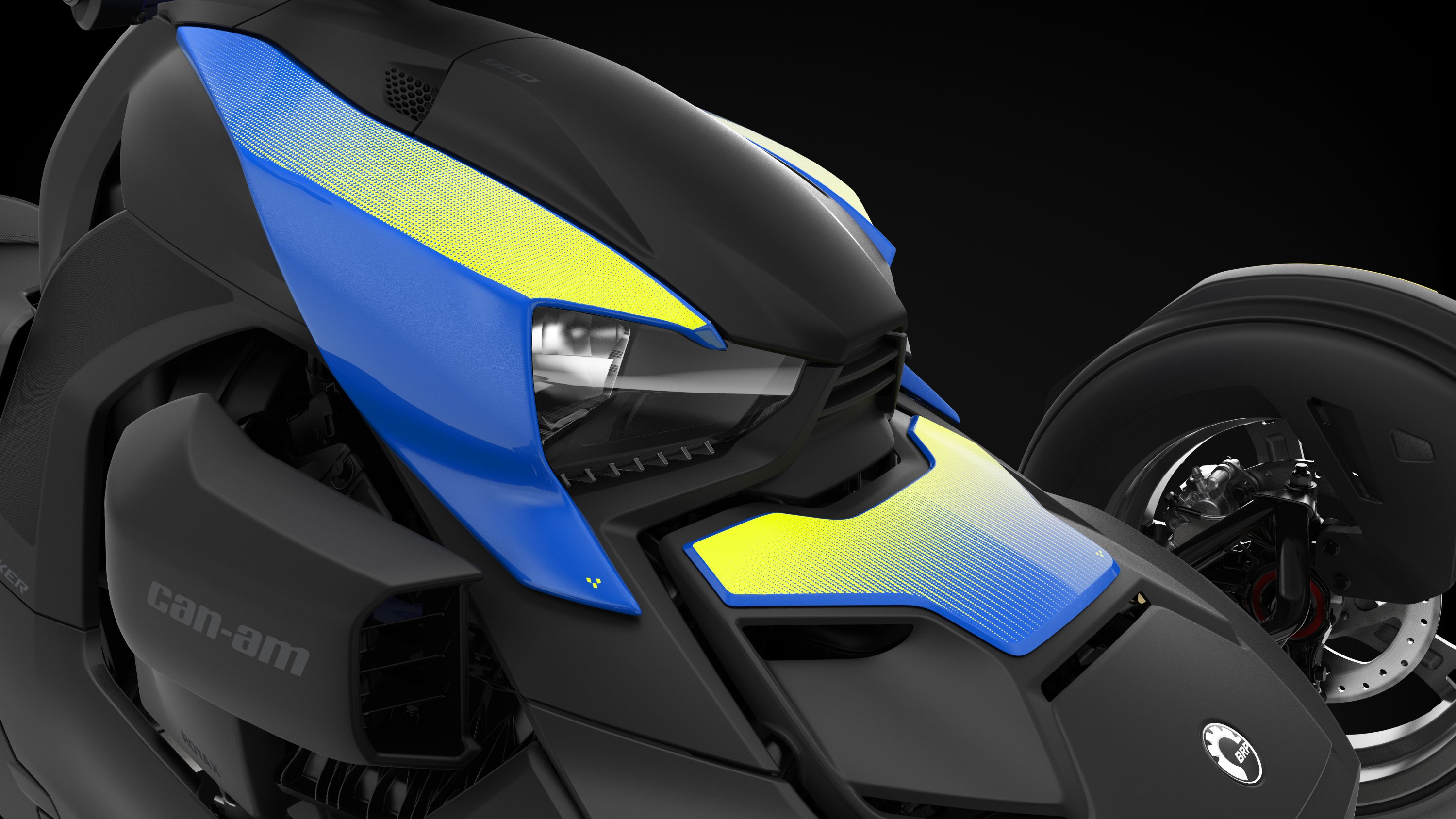 Can-Am Ryker panel Galactic Blue.