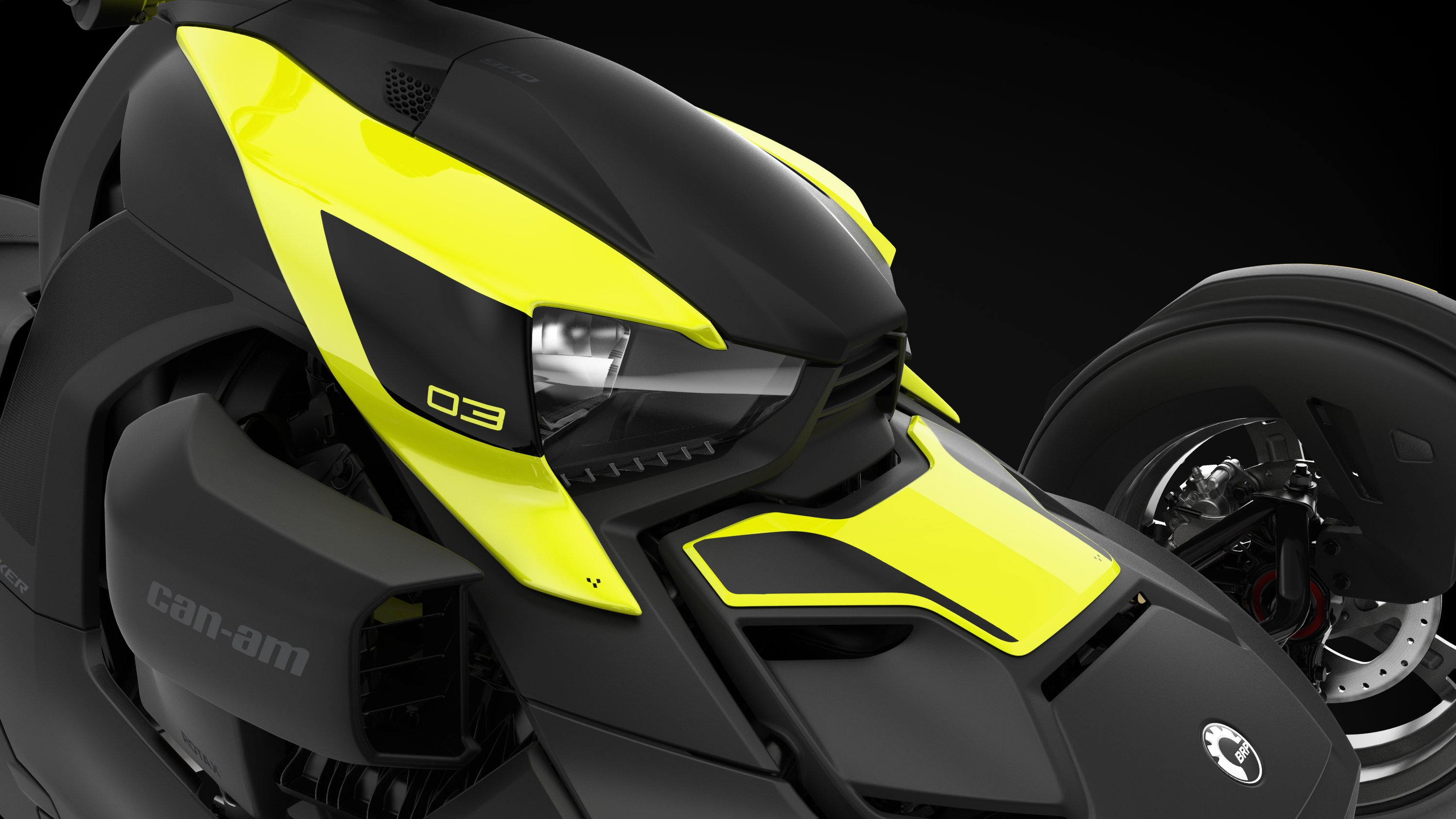 Can-Am Ryker-panel i Acid Yellow
