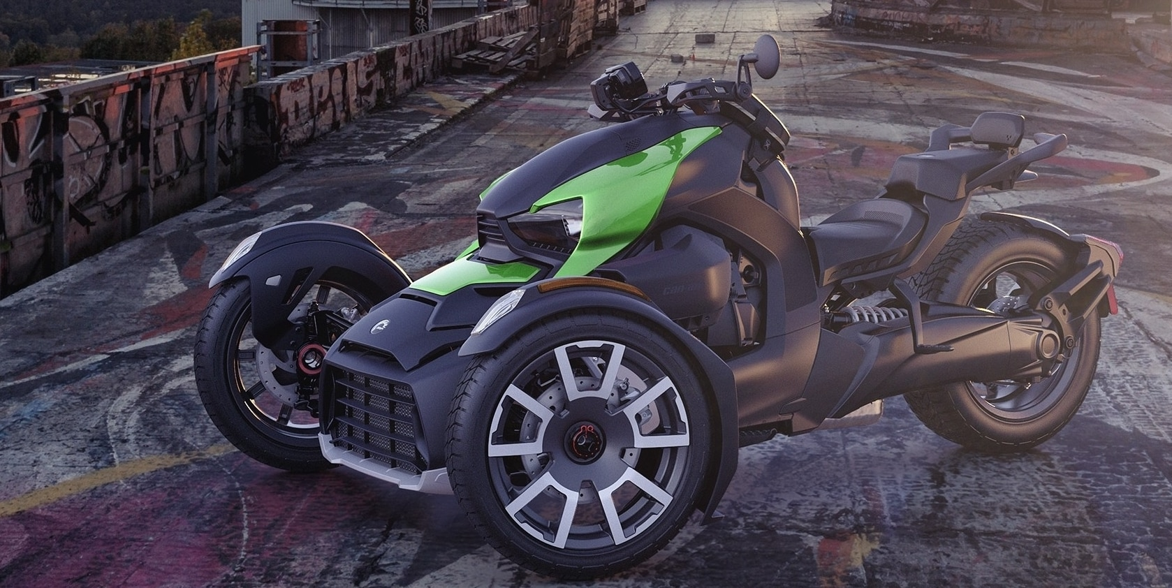 Can-Am Ryker Supersonic Green exclusive panels