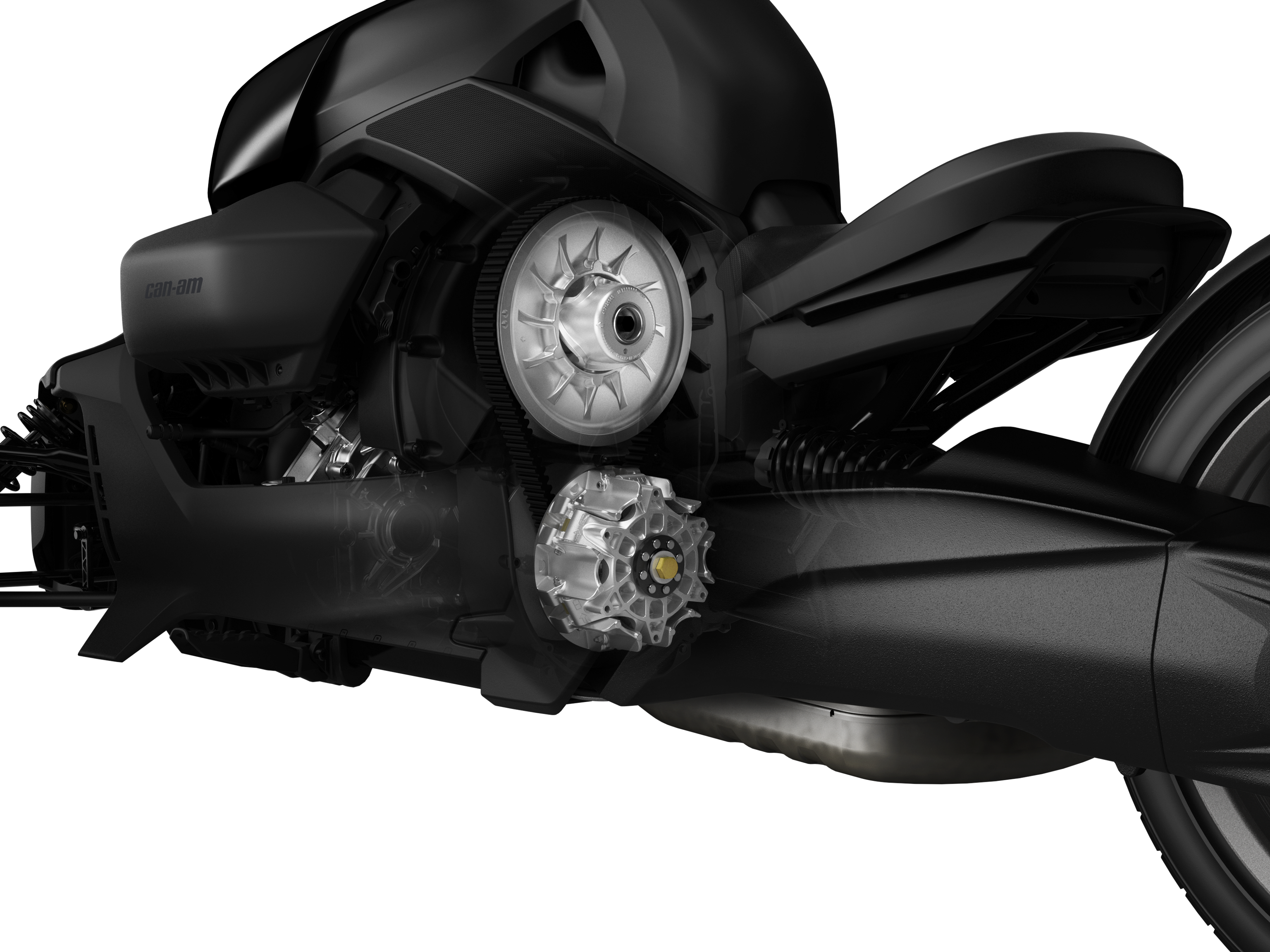 The CVT transmission of a Can-Am Ryker
