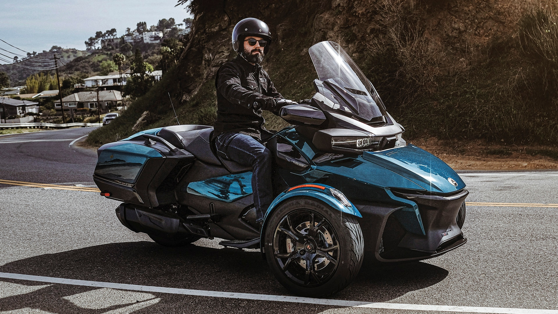 A Can-Am Ryker vehicle in a cave