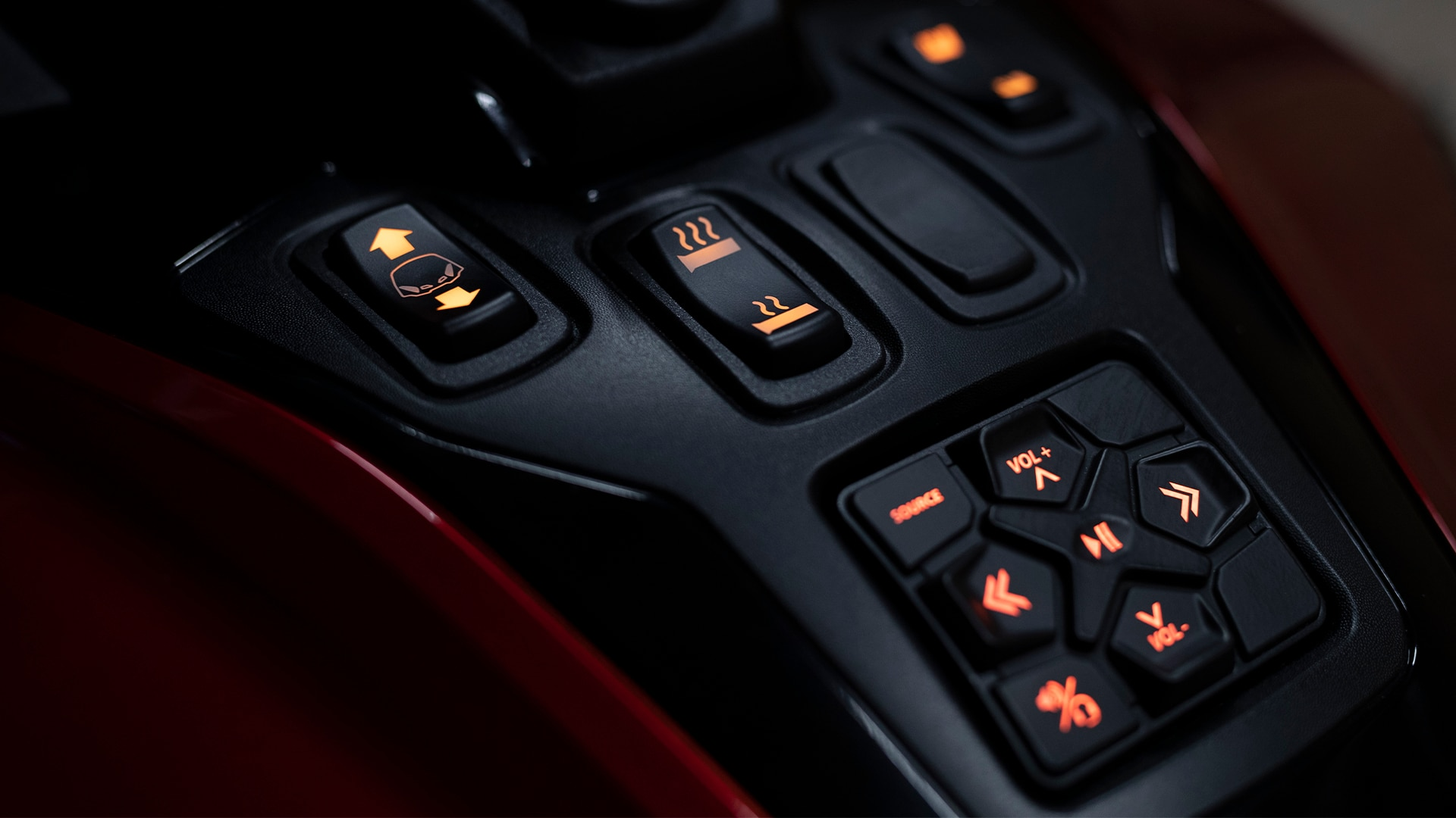 Can-Am Spyder RT audio control keypad
