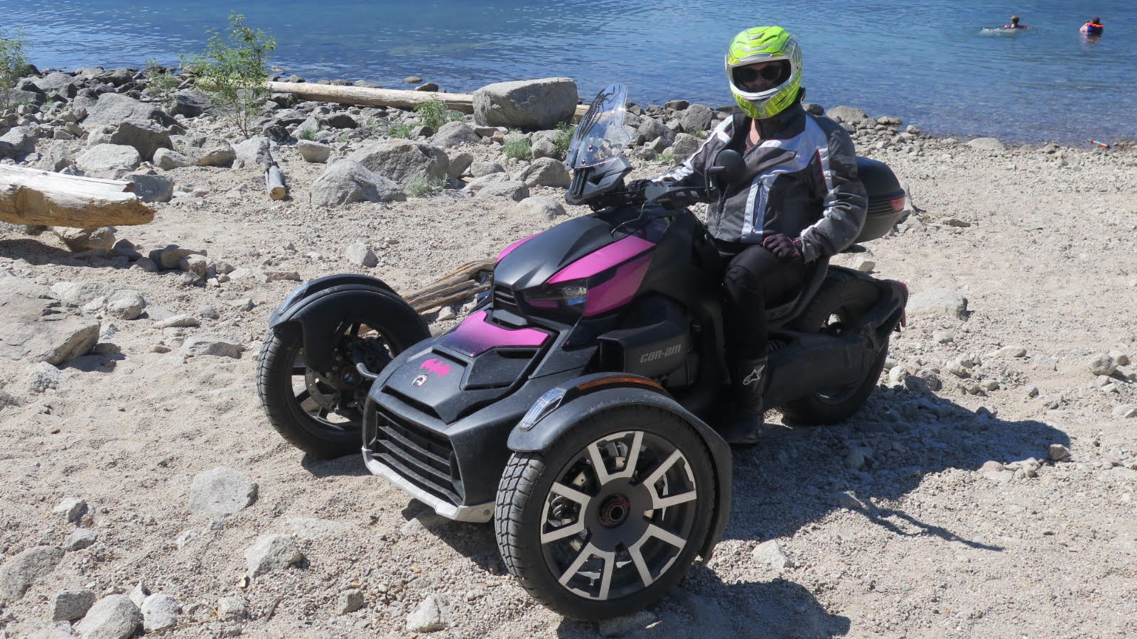 Kare Gray sitting on her Can-Am Ryker