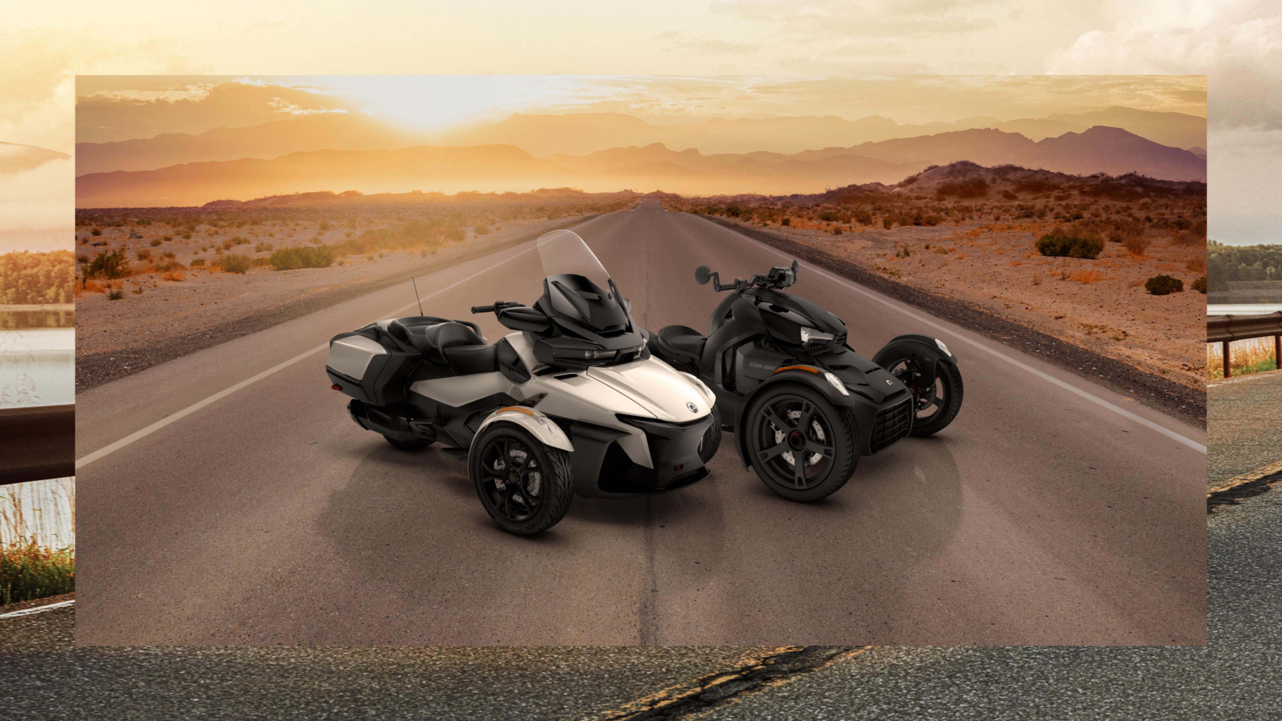 2020 Can-Am On-Road models at night